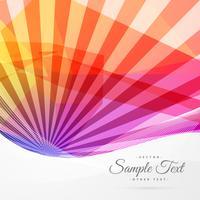 bunte abstrakte Sonne strahlt Hintergrund aus