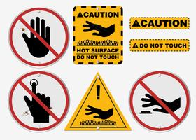 Realistic Do Not Touch Vector