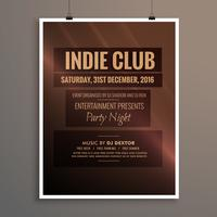indie club dj party natt flygblad banderollsmall