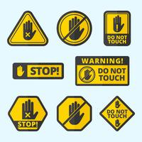 Free Do Not Touch Vector Sign Collection