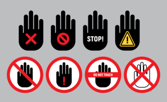 Ne touchez pas les vecteurs de symbole
