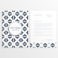 letterhead template design with pattern
