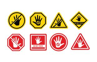 Do Not Touch Sign Vector Pack