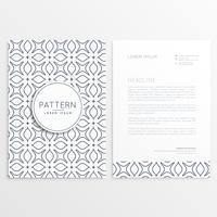 papier à en-tête dans un style minimal