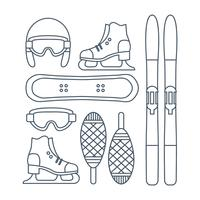 Vektor-Winter-Sport-Ikonen-Set