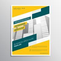 creative yellow grometric business flyer brochure design templat
