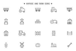 Hayride and Farm Vectors