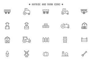 Hayride et vecteurs de ferme