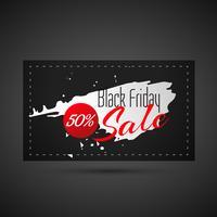 tarjeta de venta de viernes negro abstracto