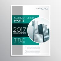 company annual report business brochure design template