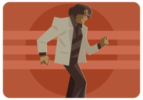 Dancing James Brown Vector