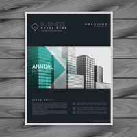 dark brochure flyer poster design template in a4 vector