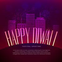 Lycklig Diwali hälsning design med plats för din text