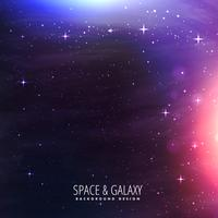 galáxia ilumina o fundo