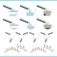 Roof Gutter Icon Set Vector
