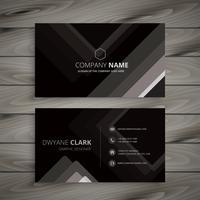 schwarze dunkle Streifen Visitenkarte Vorlage Vektor Design illustra