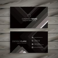 black dark stripes business card template vector design illustra