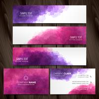 abstract ink style business stationery vector design