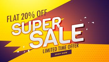 super sale offer and discount banner template for marketing and