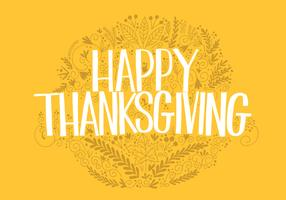 Thanksgiving Hand Lettering Vector