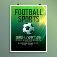 abstract vector football sports flyer poster template design in