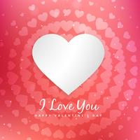 valentines day love message vector design illustration