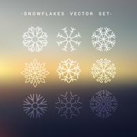 snowflakes christmas set