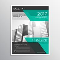 stylish business leaflet or brochure design with abstract shapes