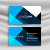 modern blue business card template in minimal style