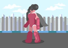 Superwoman in the City Vector