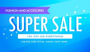 super sale promotional banner template design