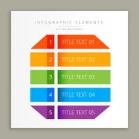 infographic färgstarka banderollsmall