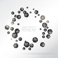 abstrakta geometriska former som bildar cirkulär ram