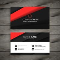 minimal red black business card template vector design illustrat