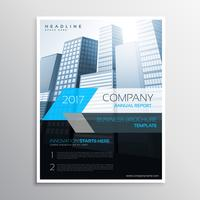 informe anual folleto plantilla portada presentación