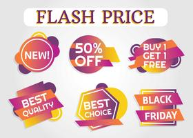 Free Price Flash Label Vector