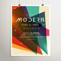 moderne retro stijl partij flyer poster sjabloon