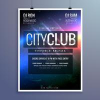 modelo de convite de panfleto de festa incrível música club