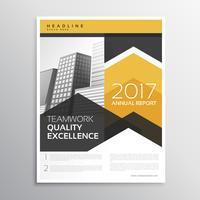 diseño de plantilla de folleto de informe anual amarillo