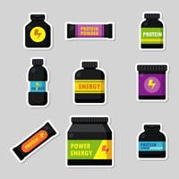 Supplements Icons Vector