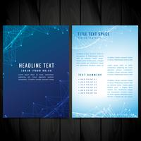 brochure flyer vector design illustration