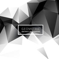 black and white low poly geometric background