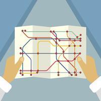 Flat Tube Map Background