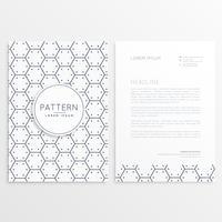 folleto de la empresa con un patrón mínimo