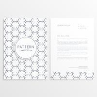 company brochure with minimal pattern