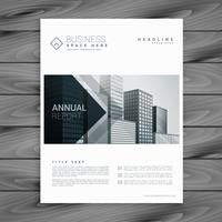 modelo de design elegante brochura branca com formas de seta