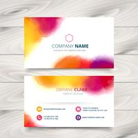 colorful ink style business card template design