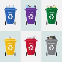 Vector de gestión de residuos