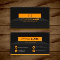 modern dark business card  template vector design illustration