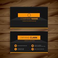 modern dark business card  template vector design illustration